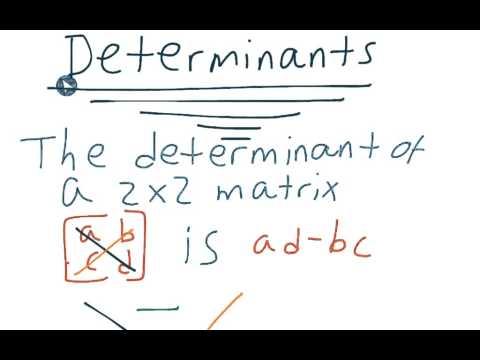Matrix 07 - Determinants of 2x2 matrices