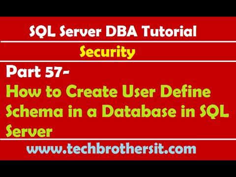 SQL Server DBA Tutorial 57- How to Create User Define Schema in a Database in SQL Server