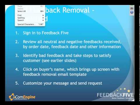 How to Get Negative Amazon Feedback Removed by Feedback Five