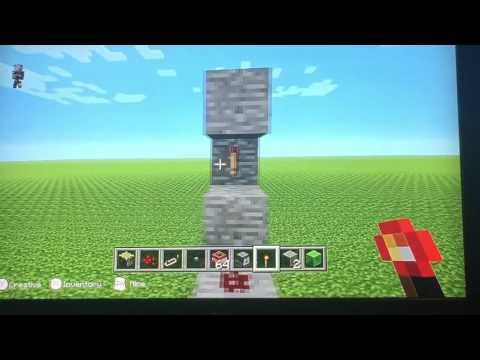 How to make a TNT cannon Minecraft WiiU Edition