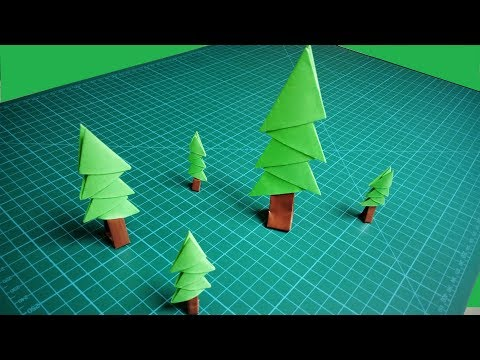 DIY Christmas Tree | How To Make 3D Origami Christmas Tree | Paper Tree | Christmas Decorations