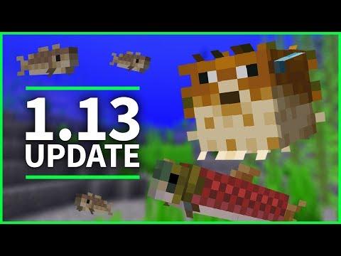 🐡 Minecraft 1.13 Update - SWIMMING FISH & UNDERWATER RAVINES - Minecraft 1.13 Snapshot 18w08b