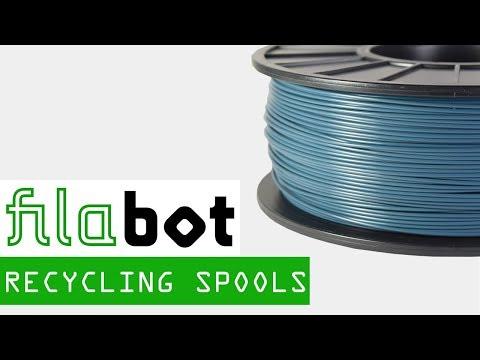 Recycling Filament Spools into 3D Printer Filament