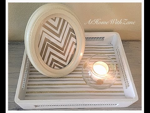 How to Dress Up Your Trays Using Gift Wrap Paper!