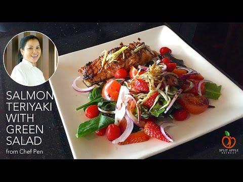 Thoughtful Food - Salmon Teriyaki with Green Salad