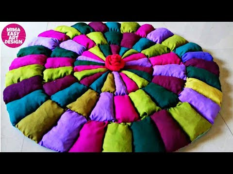 HOW TO MAKE DOORMAT |OLD CLOTH RECYCLING /REUSE IDEA |HOW TO MAKE RUG |WEB GALLERY OF ART |COOL DIYS