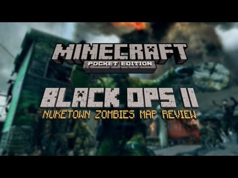 Minecraft PE- Black Ops 2 Nuketown Zombies Map Review