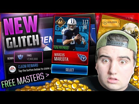 FREE MASTER PLAYER GLITCH?! FREE FANS GLITCH? + GOLDEN TICKETS CONFIRMED. Madden Mobile 18