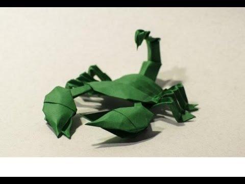 Origami scorpion modular by Javier Caboblanco - Yakomoga Origami tutorial