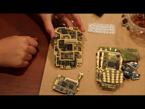 Scrapping cell phones for gold, silver, palladium and electrial components.
