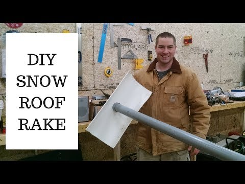 Build a FREE Roof Rake for Snow Removal