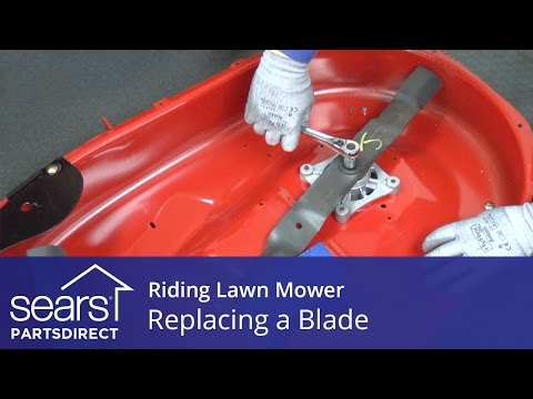 Replacing a Blade on a Riding Lawn Mower