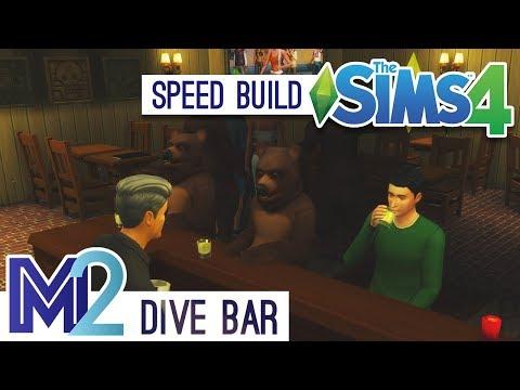Sims 4 Speed Build - Dive Bar (Underground Bar)