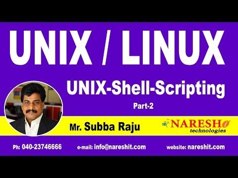 Unix Shell Scripting Part 2 | UNIX Tutorial | Mr. Subba Raju