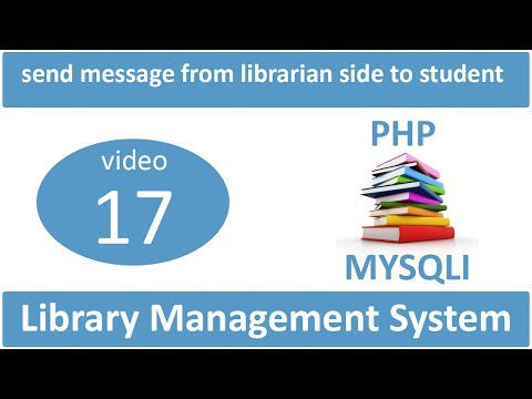 send message from librarian side to student in LMS