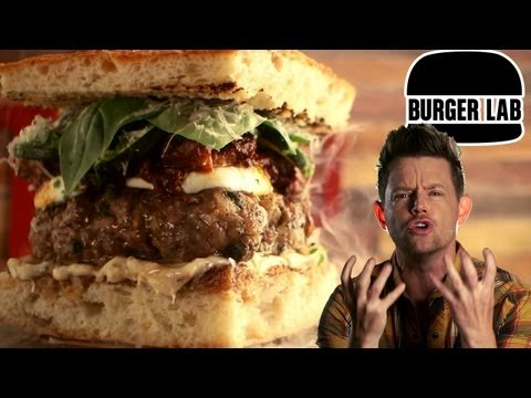 The Italian Meatball Burger - Burger Lab
