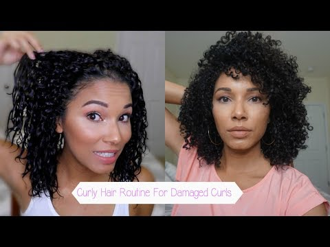Curly Hair Routine For Damaged Curls