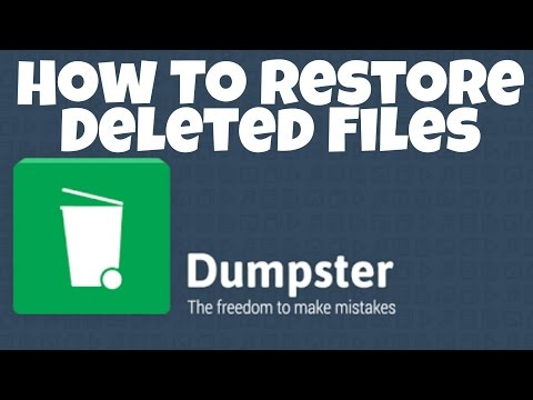 HOW TO RESTORE DELETED FILES? RECYCLE BIN FOR ANDROID .