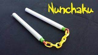 How to make a Paper Nunchaku (Nunchucks) | Look real