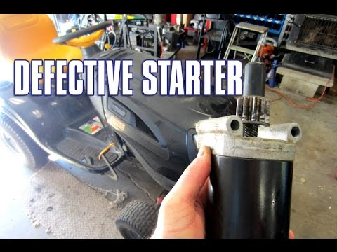 HOW-TO Replace A Lawn Tractor Starter