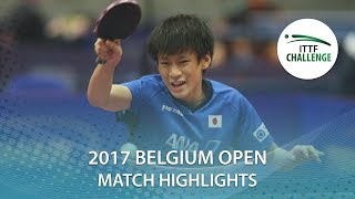 2017 Belgium Open Highlights: Shunsuke Togami vs NG Pak Nam (U21-Final)