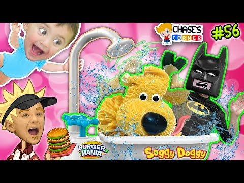 Chases Corner: SOGGY DOGGY & BURGER MANIA GAME w/ Batman (REAL LIFE PAPA'S BURGERIA) (DOH MUCH FUN)