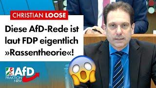 Diese AfD-Rede ist laut FDP eigentlich »Rassentheorie«! – Christian Loose (AfD)
