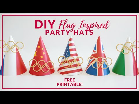 DIY Party Hats | Olympics & Flag Party Hats