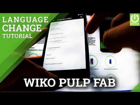 Langauge Settings in WIKO Pulp FAB - Change Android Language