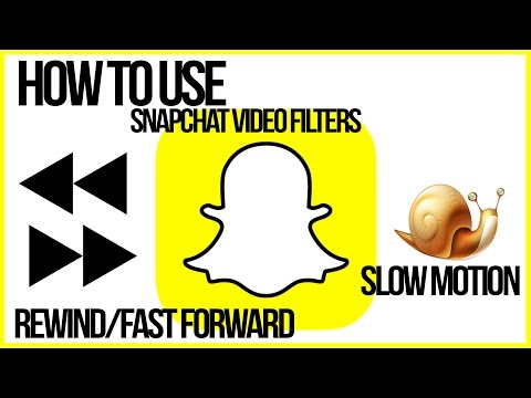 How To Use Snapchat VIdeo Filters REVERSE, FAST FORWARD, SLOW MO - Snapchat Tutorial
