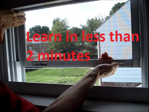 Remove and Reinstall a Window Screen
