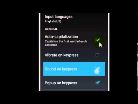 How to turn off the vibration and sounds for keypress in android? HD