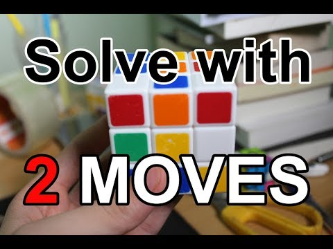 How to Solve a Rubik with Two Moves - Rubik's Cube Magic Tricks #4