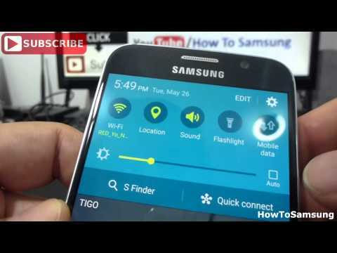 How to turn data data services on/off Samsung Galaxy S6 Basic Tutorials