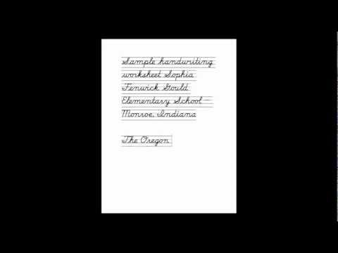Creating Custom Handwriting Worksheets Using Schoolhouse Fonts by vLetter