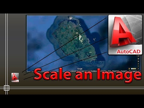 Autocad - How to Scale an image to its real size (Easy!)