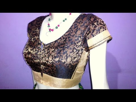 Body cut blouse drafting, cutting and stitching step by step tutorial (ENGLISH SUBTITLE)