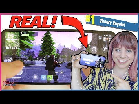 I got Fortnite Mobile!!! *not clickbait* Gameplay & First Look!