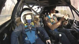Michaela ( age 10 ) with amazing rally driver Jozef Beres jun. ( Audi S1 )