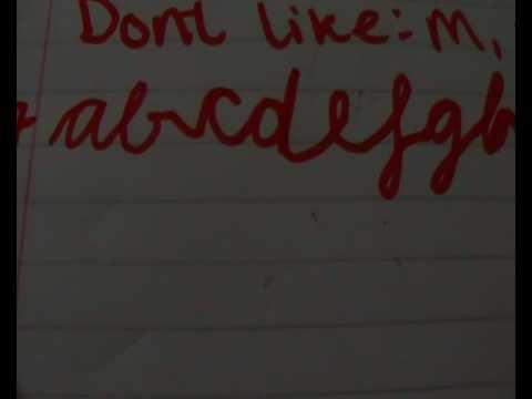 Tumblr handwriting Challenge