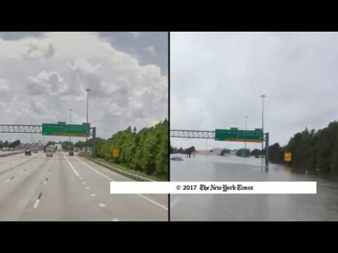 Google Map Comparison of Houston Before and After Hurricane Harvey