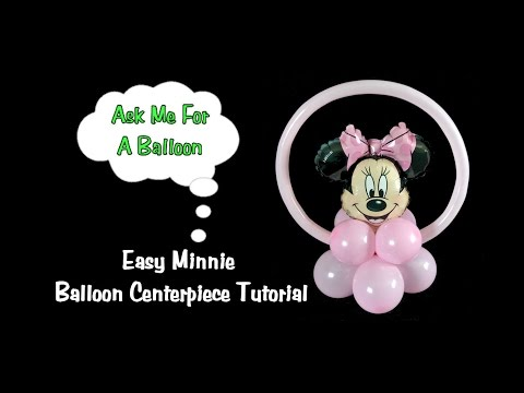 Easy Minnie Balloon Centerpiece Tutorial