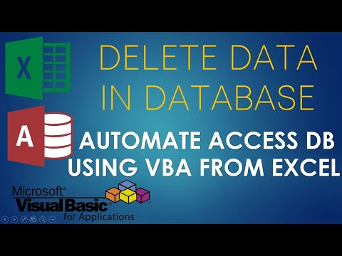 S02E06-Delete Data in Access Database using VBA