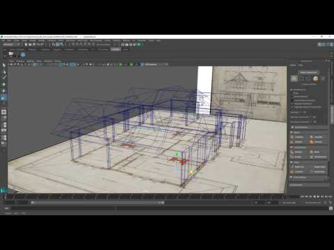 Modelling a House in Maya 2016 Series 1 - Finishing the roof [P9]