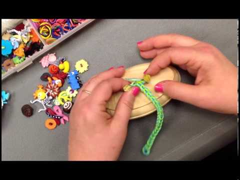 Add Buttons to a Fish Tail Stretch Band Bracelet