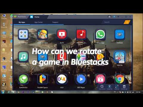 How to rotate Game in Bluestacks