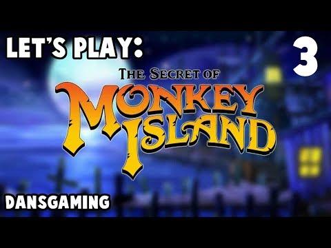 Let's Play The Secret of Monkey Island - Part 3 - Walkthrough w/ Dan - HD Gameplay - Adventure