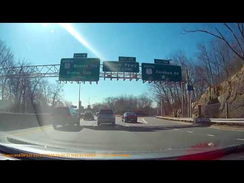 object on road Bronx River Parkway