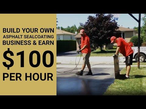 Build Your Own Asphalt Sealcoating Business & Earn $100 Per Hour