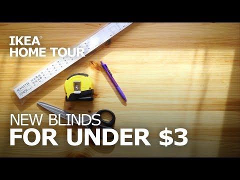 DIY IKEA SCHOTTIS Blinds Installation - IKEA Home Tour